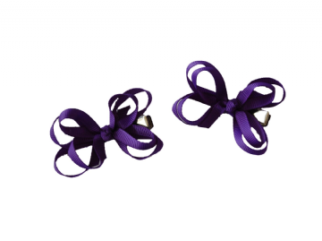 Bow Clips - Purple